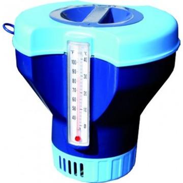 Кутия за 200 гр. хлорни таблетки с вграден термометър