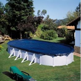 Зимно покривало за овален басейн 915 x 470 - 100 g/m
