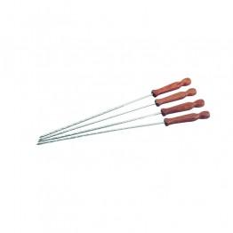 Шишове за барбекю метал с дървена дръжка