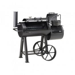 Локомотив барбекю на дървени въглища 150х140х71см.