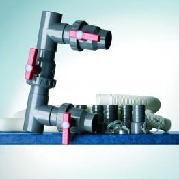 Байпас за свързване на термопомпата към кръга на филтрация