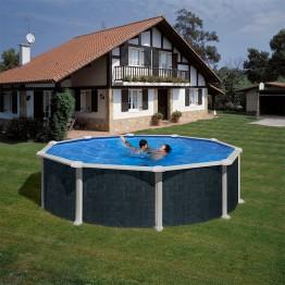 GRE Басейн кръг имитация на ратан ф460 h 120см.
