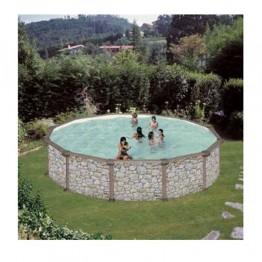 GRE Сглобяем басейн с метална стена кръг имитация на камък ф550 h 132см.
