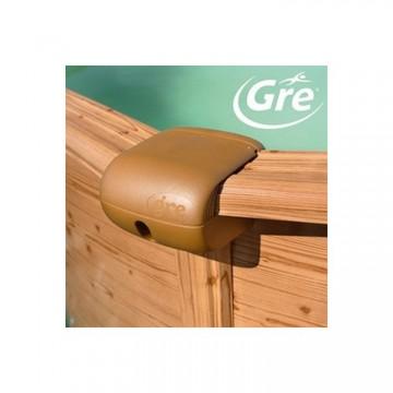 GRE Сглобяем басейн с метална стена кръг имитация на дърво ф550 h 132см.