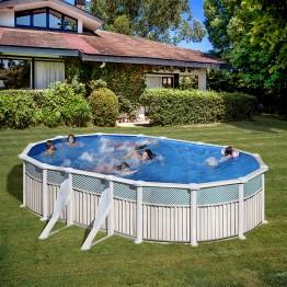 GRE Сглобяем басейн с метална стена овал 610 x 375 h 132см.